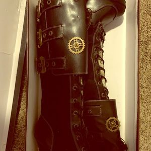 Vintage Stem Punk Cost Play Boots